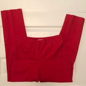 Red Skinny Pants by Madison Size 6
